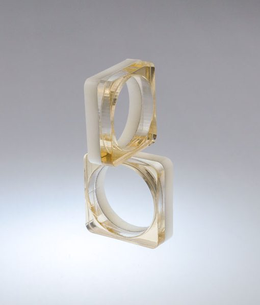 Bague Plexiglas K-Ré Double Or Beige